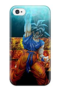 Rugged Skin Case Cover For Iphone 4/4s- Eco-friendly Packaging(goku)