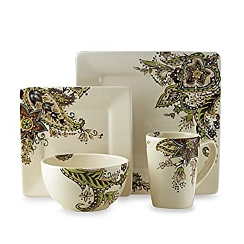 Amazon.com   Tabletops Unlimited Angela Square 4-Piece Place Setting ...