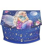 Depesche 11236 szkatułka na biżuterię z lustrem, model Fantasy niebieski, ok. 19,2 x 14 x 11 cm