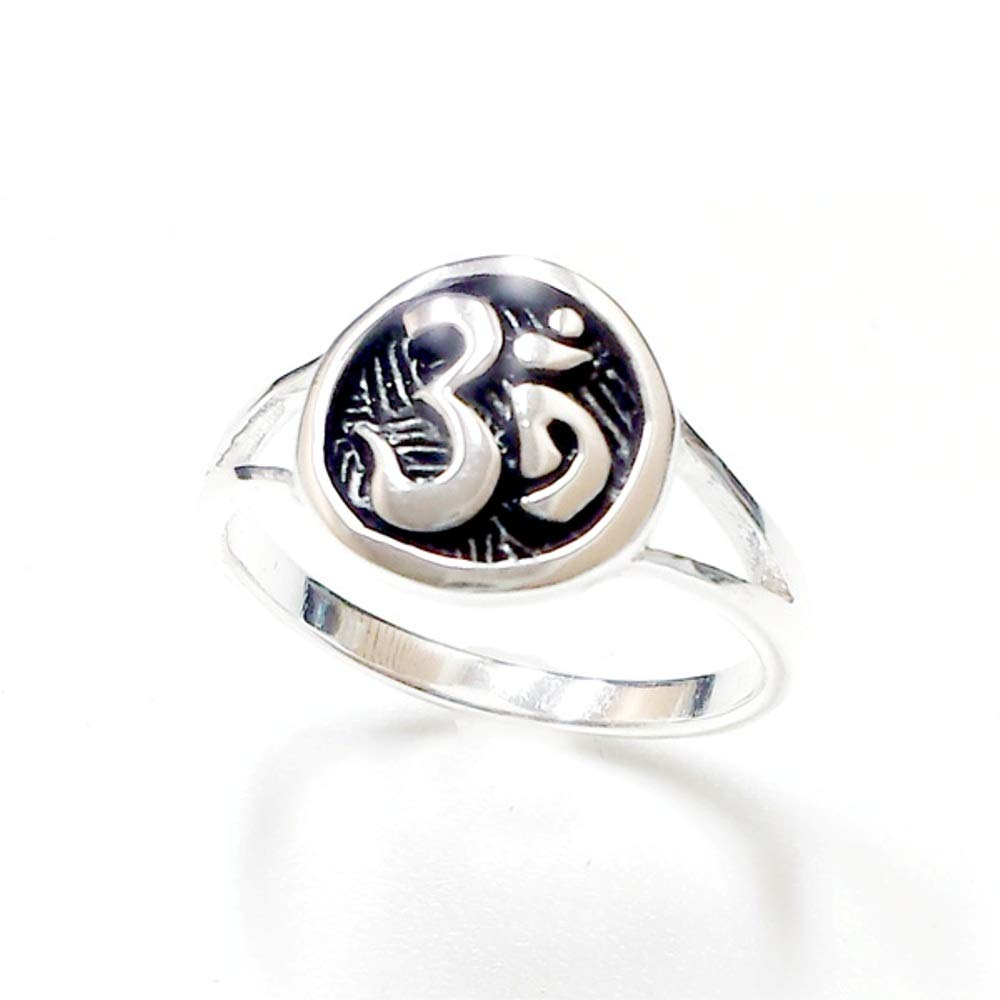 Tisoro 925 Sterling Silver Om Ring – Buddhism Ring – 100% Hypoallergenic & Allergy Free Jewelry (8)