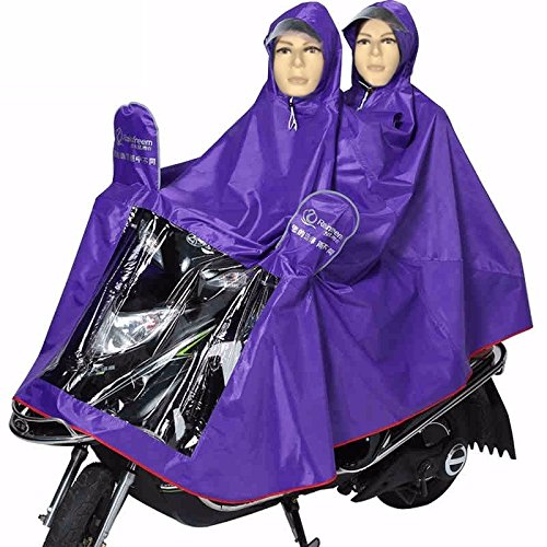 Double Men's and Women's Motorcycle Scooter Raincoat with Clear ...