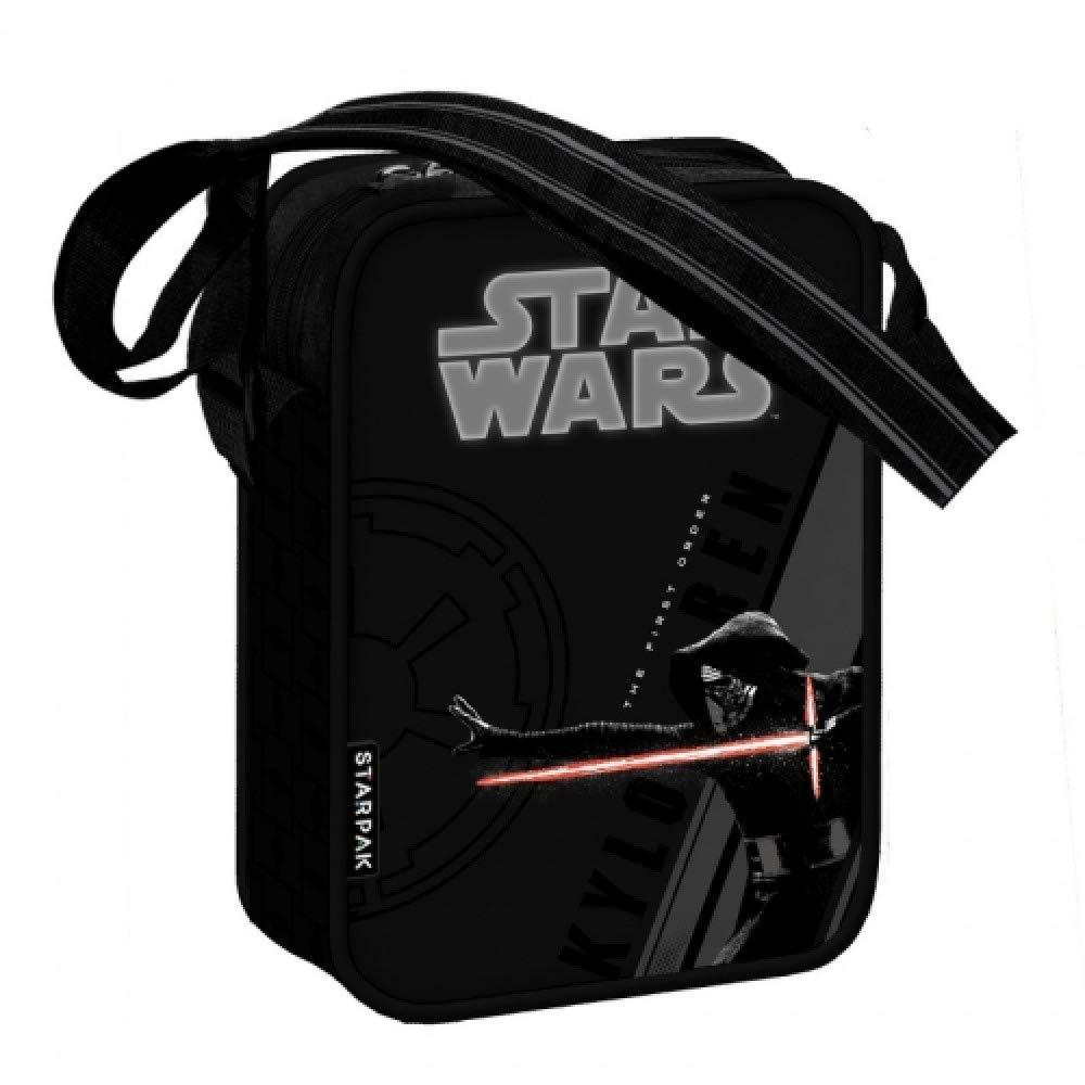 22,5cmx17,5cmx7cm Disney Star Wars Sac en Bandouli/ère Kylo Ren Le r/éveil de la Force Id/éal pour LEcole Le Lunch ou en Promenade