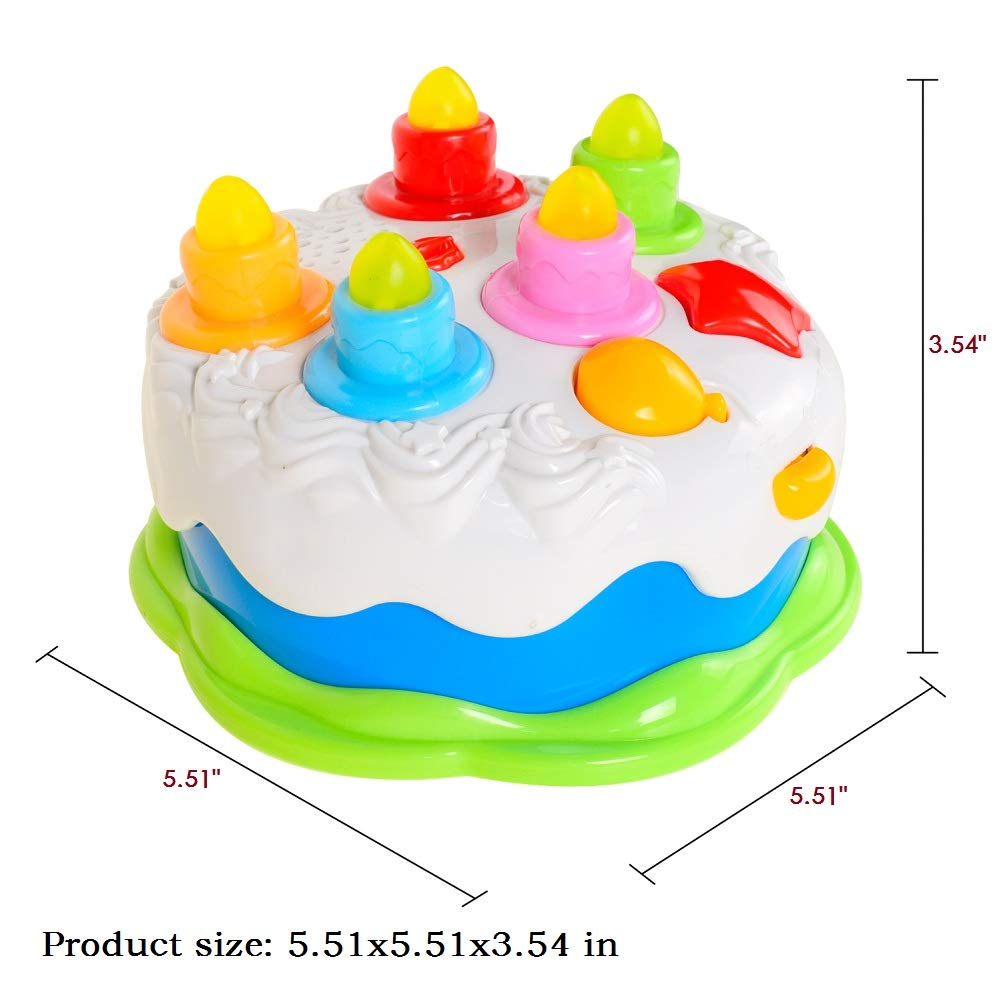 Honor-Y Happy Birthday Cake Toy for Babies /& Toddlers with Candles Lights and Music Kids Birthday Cake Gift Toys for 1-5 Years Old Girls and Boys .
