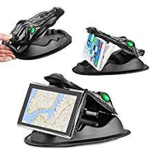 FEIKU Crocodile Clips Series NonSlip Dashboard Friction Mount for Garmin Nuvi, TomTom, Via GO and other 3.5 - 8 Inch GPS Devices and Smartphones