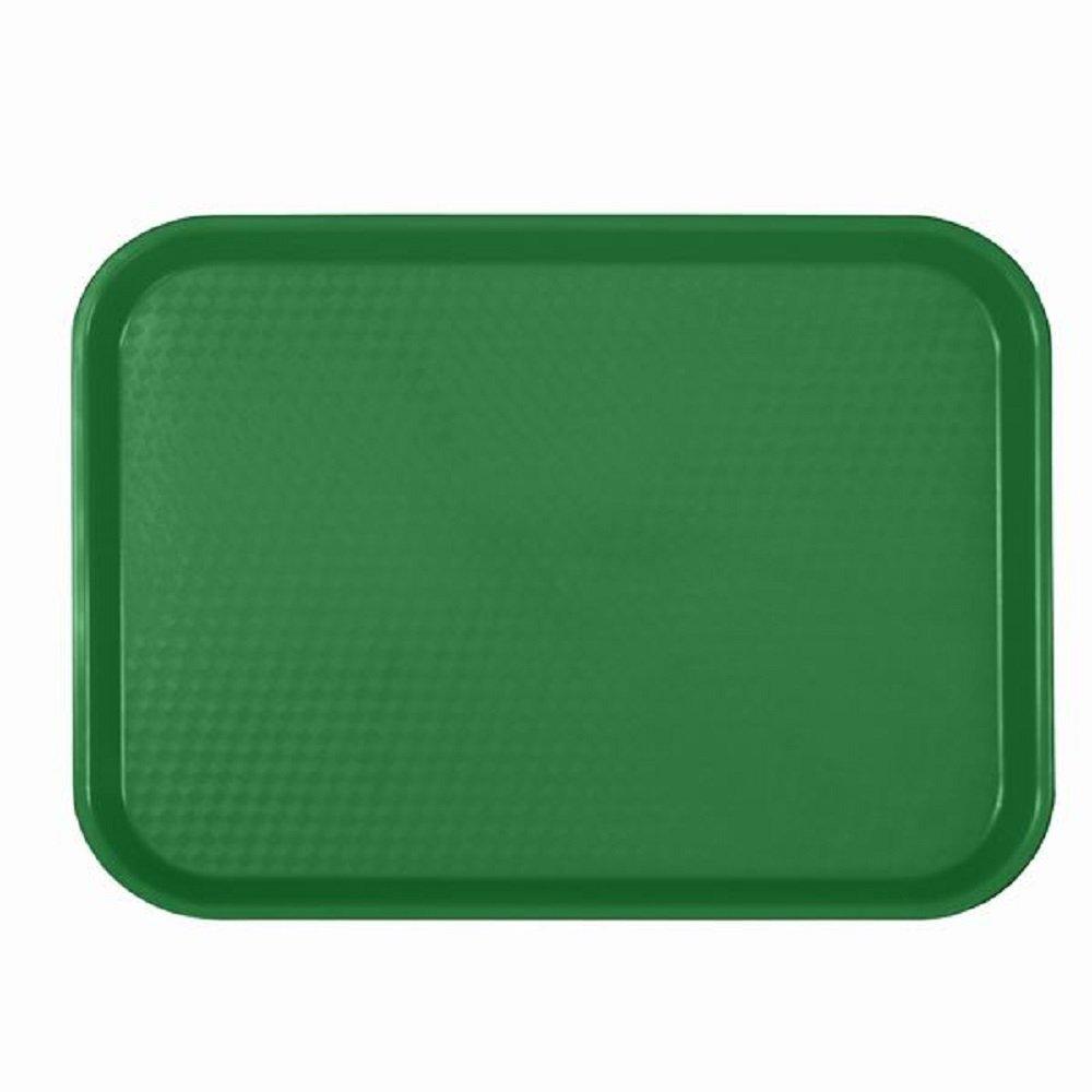 (12) docena de bandejas de cafetería - comida rápida bandeja - café - ALMUERZO - Bandejas de plástico Surtido de Colores 10 1/2