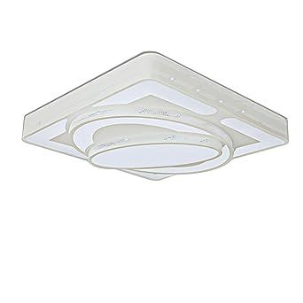 Moderno minimalista LED regulable tiras control remoto luces de techo Luna y estrellas naves rectángulo sala