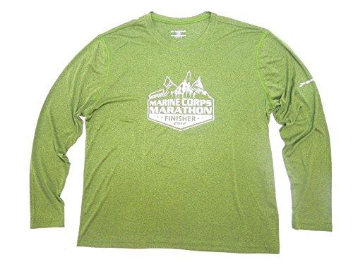 BROOKS Marine Corps Marathon Finisher T-Shirt Mens Fern G...