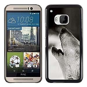 Stuss Case / Funda Carcasa protectora - Wolf Hauling Black White Photo Forest Dog - HTC One M9