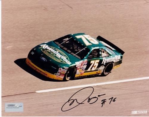 Autographed Morgan Shepherd Photo - Racing 8x10 - JSA Certified - Autographed NASCAR Photos
