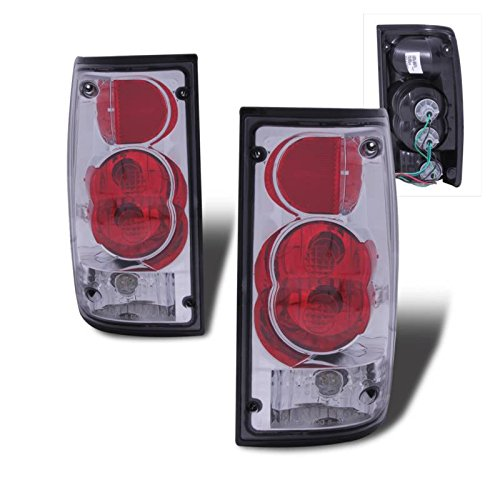 SPPC Chrome Euro Tail Lights Assembly Set for Toyota Pickup - (Pair) Driver Left and Passenger Right Side Replacement