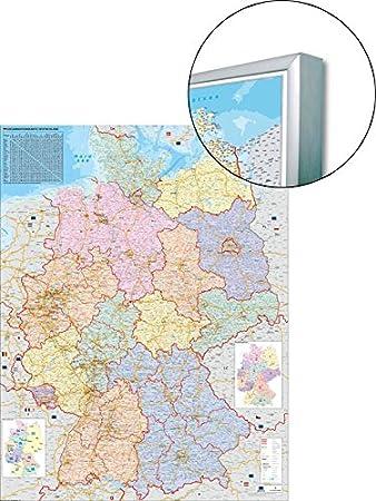 deutsch Weltkarte 137 x 89 cm mit Metallleiste