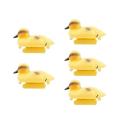 4X Floating Duck Ducklings Fish Pond Ornament Plastic Decoy Mallard Lifesize