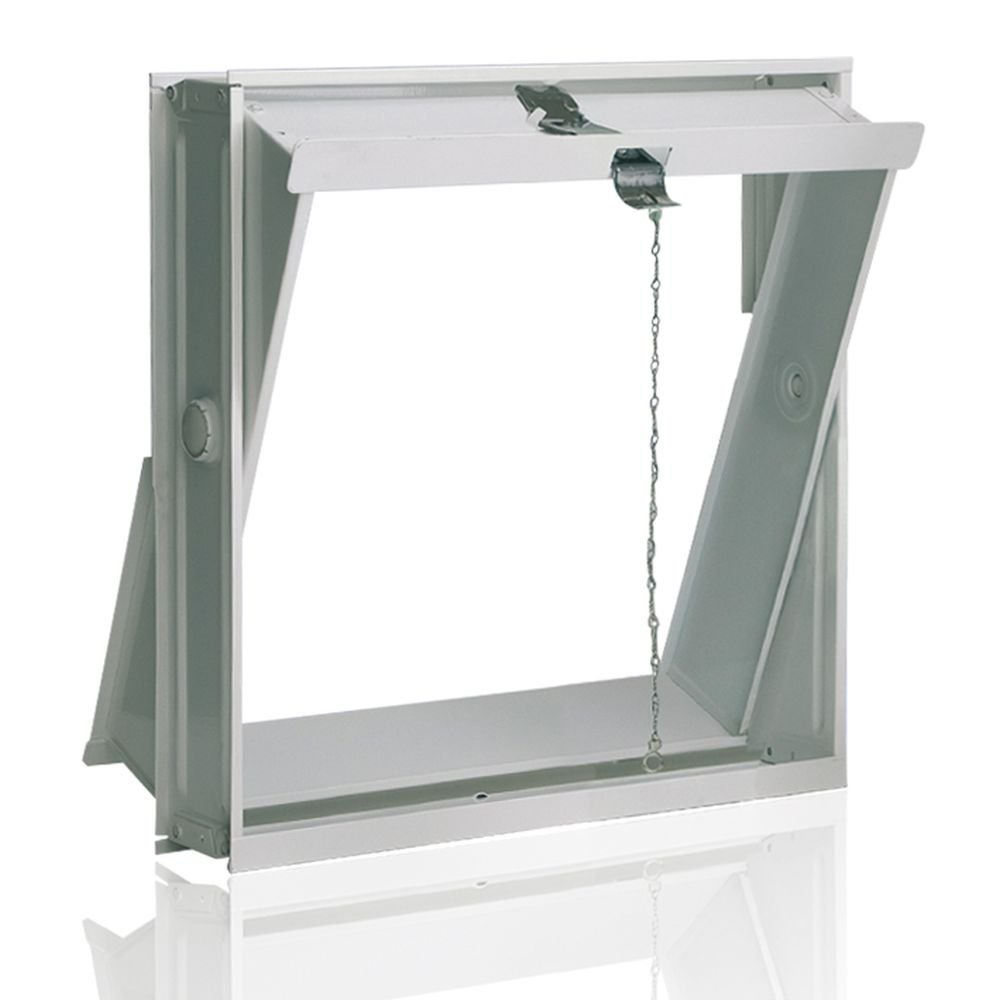 Ventana oscilobatiente: para el montaje en la pared de bloques de vidrio para 4 bloques de vidrio 19x19x8 cm Fuchs Design