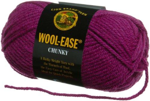 Lion Brand Yarn 630-146C Wool-Ease Chunky Yarn, Orchid