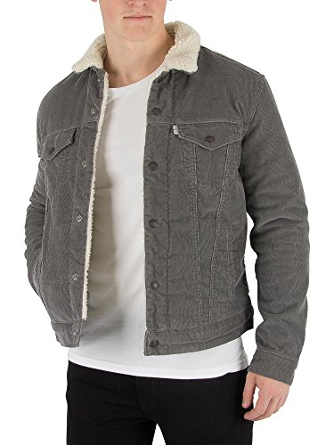 Levi's Men's Type 3 Sherpa Trucker Jacket, Grey, XX-Large