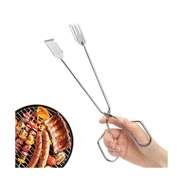 GROOMY Scissors Shape Frittura Griglia Clip Cibo BBQ Attrezzi Pinze Gadget da Cucina all'aperto 3 spesavip