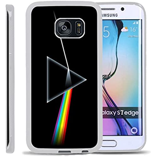 S7 Edge TPU Case,Pink Floyd The Dark Side Of The Moon PREMIUM BUMPER Bumper Style Premium Case Slim Fit Dual Layer Protective Cover for Samsung Galaxy S7 Sales