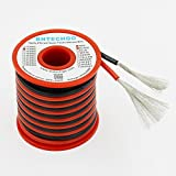 BNTECHGO 14 Gauge Silicone Wire 40 feet [20 ft Black And 20 ft Red] High Temperature Resistant Soft and Flexible 14 AWG Silicone Wire 400 Strands of copper wire