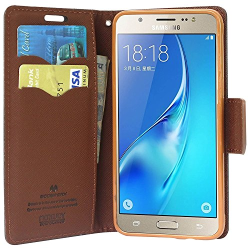 best website 1dfec 1b695 Samsung J7 Prime Flip Cover Brown (Ultra Compact with Stand, Credit Card  Slots & Wallet)