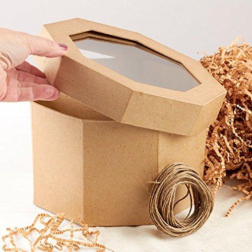 Factory Direct Craft Paper Mache Octagon Window Gift Box Set | 3 Piece Set