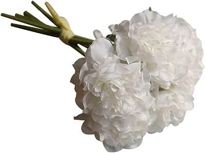 Lighclub 1 Buquê Artificial Peônia Flor Acessório de Fotografia Festa de Casamento Floral Decoração para Sala de estar, Jardim, varanda, Restaurante, Cafe House