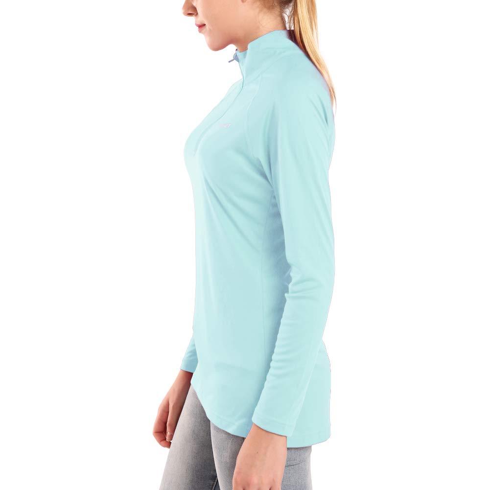 Ogeenier Camisetas de Manga Larga Mujer Protecci/ón Solar UV UPF 50+
