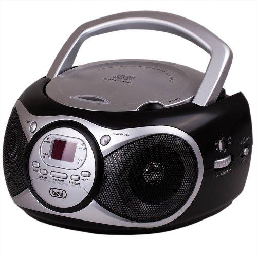 Trevi CD 512-CD-Radio (Digital, AM, FM, 87,5-108MHz, Spieler, CD, CD-R, CD-RW, 6W) schwarz, silber