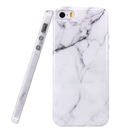 Funda iPhone 6 Plus/6s Plus Mármol, Bestsky Anti-arañazos Anti-golpes Soft Silicona Case Cover Protección cáscara para Apple iPhone 6 Plus/6s Plus ...