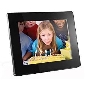 "Aluratek (ADMPF108F) 8"" Hi-Res Digital Photo Frame with 4GB Built-In Memory (800 x 600 Resolution), Photo/Music/Video Support"