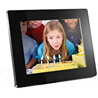 Aluratek ADMPF108F 8-inch Hi-Res Digital Photo Frame With 4GB Built in Memory (Black)