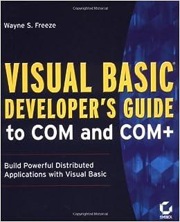 Visual Basic Developer's Guide To COM And COM+ Ebook Rar