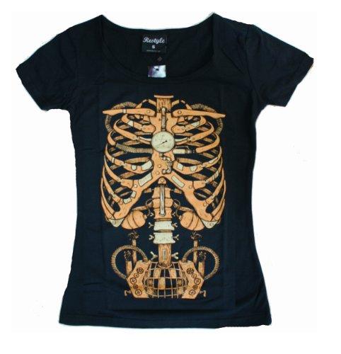 MECHANICAL STEMPUNK RIBS Womens T-Shirt (X-Large)