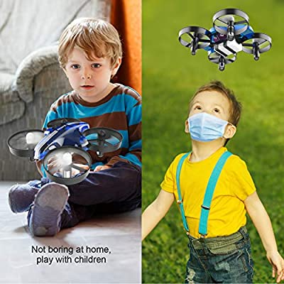 Mini Drones for Kids and Beginners,Helicopter with Remote Control,RC Pocket Quadcopter Drone with Altitude Hold Function,360°Flips and One Key Return Drone Toys for Boys and Girls(AT-66): Toys & Games