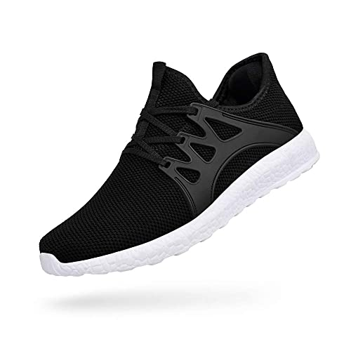 new product 2109d 6ace0 ZOCAVIA Men and Women Trainers Gym Shoes Lightweight Running Sports Shoes,  Black 2 3.5 UK