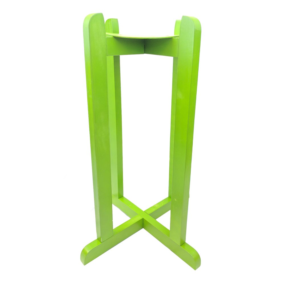 For Your Water 27'' Natural Wood Painted Water Crock Dispenser Floor Stand - Light Green