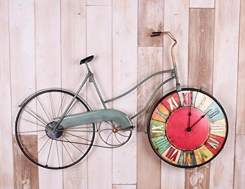QWER Reloj de Pared de Hierro Forjado diseño de Bicicleta Antigua ...