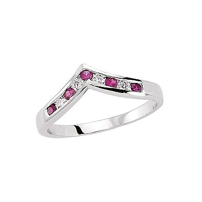 Jewelco London Rhodium Plated Sterling Silver Multi Coloured Round Brilliant Cubic Zirconia Rainbow Eternity Ring uC0oePKcxB