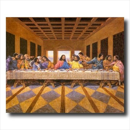 Amazon.com: African American Black The Last Supper Jesus Christ Religious  Picture Black Framed Art Print: Posters U0026 Prints