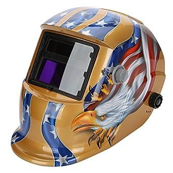 TKOOFN Pantalla de Soldar Máscara de Soldador Automática Fotosensible con Auto Oscurecimiento Casco para Soldaduras Protección