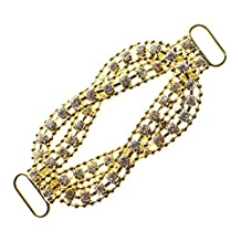 Rhinestone Bikini Connector Crystal Buckle Metal Chain Swimming Wear Gold