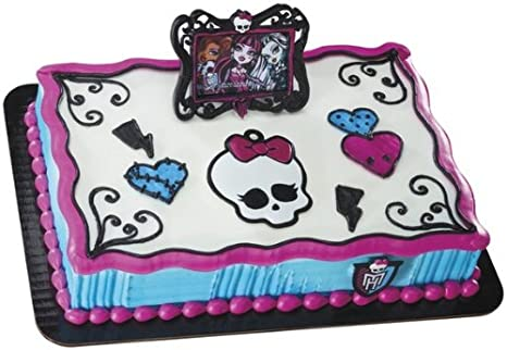Peachy Amazon Com Monster High Frame And Skullette Decoset Cake Funny Birthday Cards Online Fluifree Goldxyz