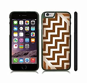 iStar Cases? iPhone 6 Case with Chevron Pattern Brown/ White Gradient , Snap-on Cover, Hard Carrying Case (Black) by icecream design