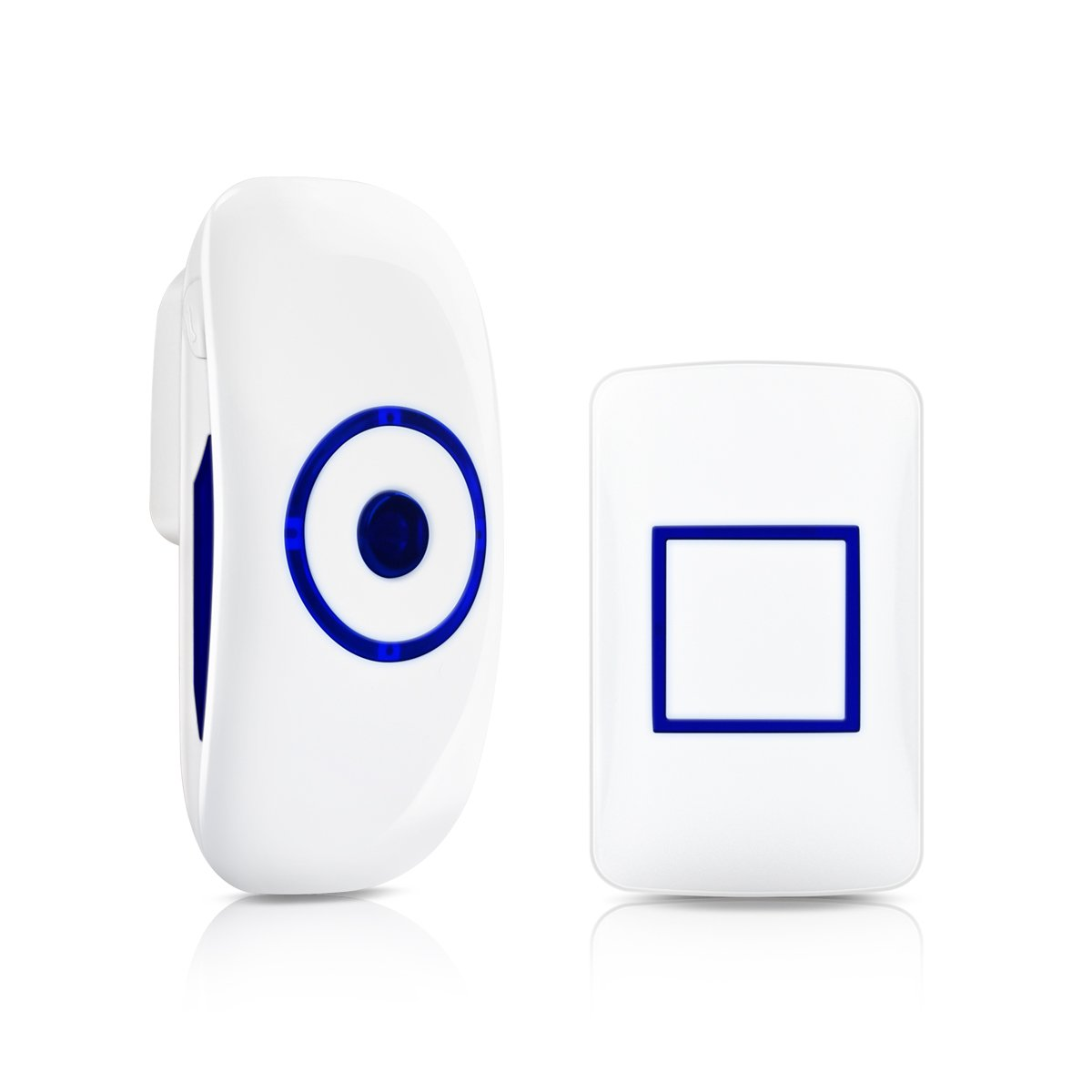 Antart Wireless Doorbell Waterproof Door Bell Kit, 1000 Feet Operating, 36 Chimes, 4 Level Volume, LED Indicator, 1 Plug-In Receiver 1 Push Button Transmitter