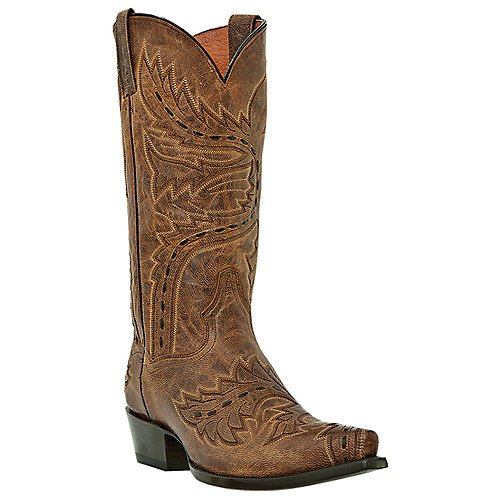 Dan Post Men's Side Winder Distressed Cowboy Boot Bay Apache 10.5 EE US