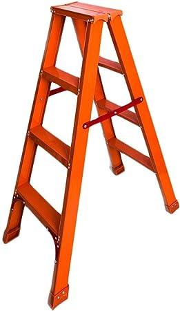 RenGuan Escalera Plegable de Doble Cara Escalera de Espiga de aleación de Aluminio Grueso Escalera Interior Ascendente de Cuatro Pasos Escaleras de Escalera Interior ascendentes: Amazon.es: Hogar