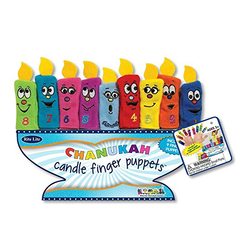 Discount Amazing Chanukah Candle Finger Puppets with Menorah Stand(Ages 3+) for cheap