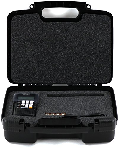 Hard Storage Carrying Case For Racing Scanners Fits Uniden Bc75xlt  Uniden Bc125at Public Safety  Military Aircraft Racing Scanner  Racing Electronics Re3000  Re1000 Racing Scanner And Accessories
