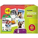 Fujifilm 705061900 - Filme Instax Mini, 6 x 10 Folhas de Fotos
