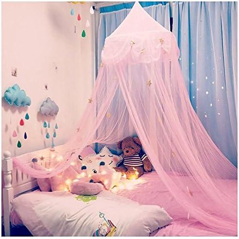 luna y espacio para ni/ños Cama infantil con dise/ño de estrellas con mosquitera
