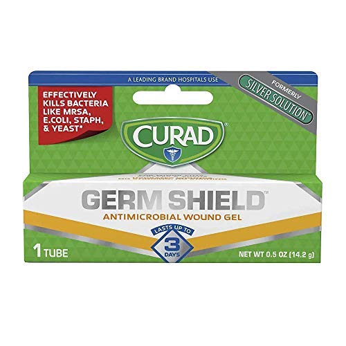 Curad Germ Shield Antimicrobial Gel 0.50 oz (Pack of 2)